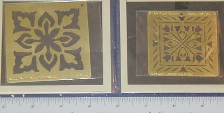 Embossing Templates - Quilt - set of 2