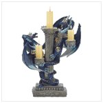 38202 Blue Dragon Candleholder
