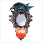 32253 Dragon Wall Mirror And Candleholder