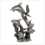 37571 Antique Bronze Finish Dolphins