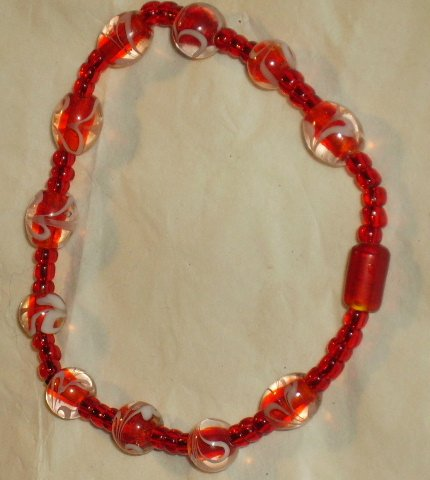 Pretty handcrafted beaded bracelet