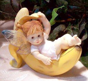 """Kitchen Fairy """"Fairy on Banana"""""""