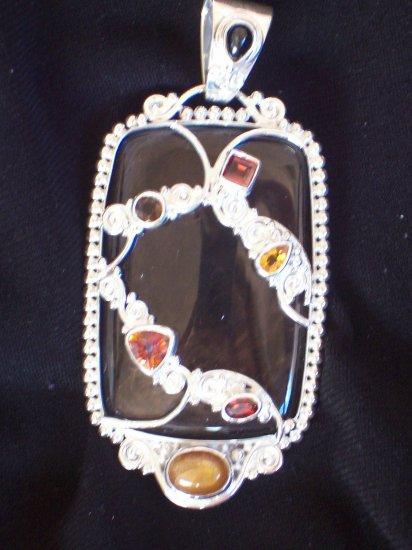 Gorgeous Multi-Gemstone Pendant