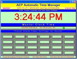 ATM (Automatic Time Manager)