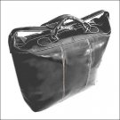 Floto Piana tote in Black leather duffle bag SKU 3Black