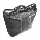 Floto Piana tote in Black leather duffle bag SKU 3Black