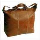 Floto Piana tote Olive Brown leather duffle bag SKU 3OLIVE