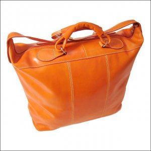 Floto Piana tote Orange leather duffle bag SKU 3ORANGE