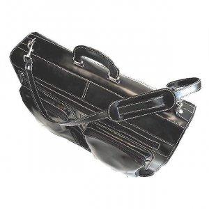 Floto Venezia Garment bag in Black Leather SKU 33