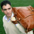 Floto Tack Duffle bag in Vecchio Brown leather *SKU 16Brown