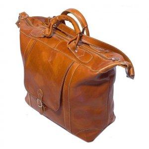Floto Tack Duffle bag in Olive Brown leather *SKU 16Olive