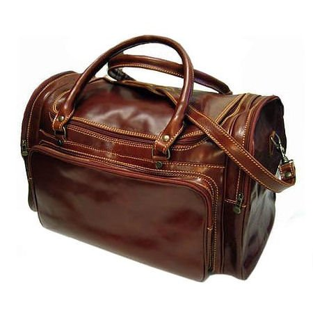Floto Torino Duffle bag in Vecchio Brown leather SKU 41Brown