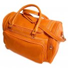Floto Torino Duffle bag in Orange leather SKU 41Orange