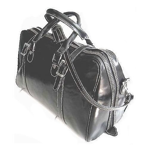 Floto Trastevere Duffle bag in Black leather SKU 20Black