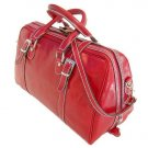 Floto Trastevere Duffle bag in Tuscan Red leather SKU 20Red