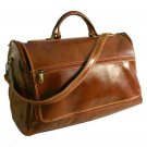 Floto Taormina Duffle in Vecchio Brown leather SKU 150Brown