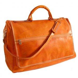 Floto Taormina Duffle bag in Orange leather SKU 150Orange