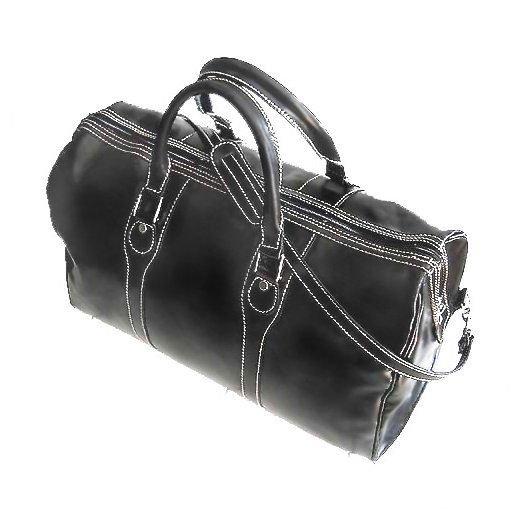 Floto Milano duffle bag in Black leather SKU 40Black