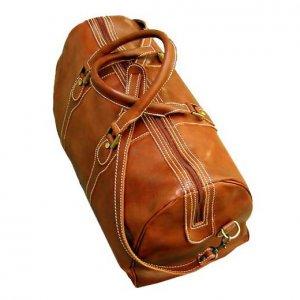 Floto Milano duffle bag in Olive Brown leather SKU 40