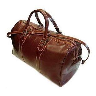 Floto Milano duffle bag in Vecchio Brown leather SKU 40Brown