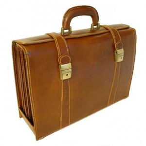 Floto Trastevere Briefcase in Vecchio Brown Leather *SKU 64