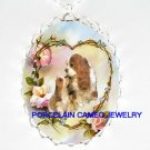 2 CAVALIER KING CHARLES SPANIEL MOM KISS PUPPY NECKLACE