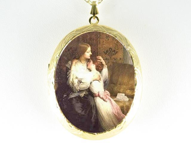 VICTORIAN 2 SISTERS COMFORT EACH  OTHER CAMEO LOCKET