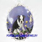 BOSTON TERRIER DOG WITH BUBBLE FAIRY PORCELAIN NECKLACE