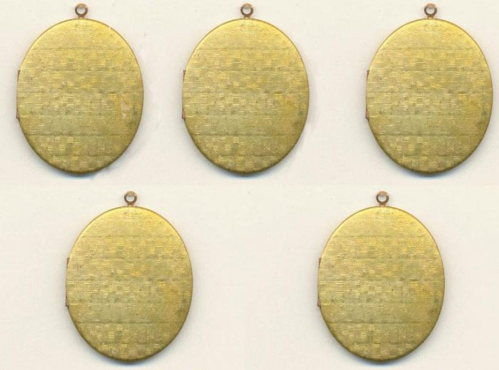 VINTAGE OLD STOCK ANTIQUE BRASS LOCKET LOTS 5 PCS