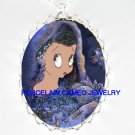 BETTY BOOP SNOW ANGEL* CAMEO PORCELAIN NECKLACE