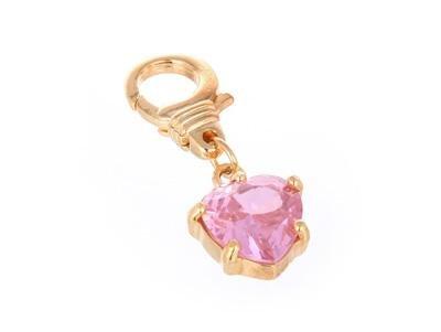 JUICY COUTURE PINK HEART DIAMOND* HANDBAG CHARM