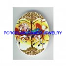 VICTORIAN CAROUSEL HORSE* UNSET CAMEO PORCELAIN CABOCHON