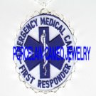 Honorary Emergency Medical Technician SYMBOL  *  CAMEO PORCELAIN NECKLACE