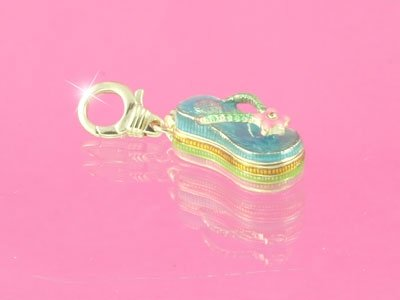 JUICY COUTURE CRYSTAL FLIP FLOP HANDBAG/BRACELET CHARM