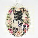 3 French Bulldog FAMILY MOM PUPPY ROSE CAMEO NECKLACE