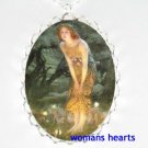 VICTORIAN MIDSUMMER EVE FAIRY PORCELAIN CAMEO NECKLACE