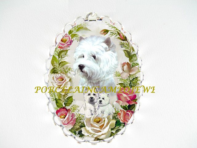 WEST HIGHLAND WHITE TERRIER DOG MOM PUPPY PIN BROOCH