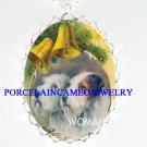 2 VICTORIAN FOX TERRIER DOG CHRISTMAS CAMEO NECKLACE