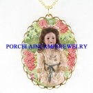 ARMAND MARSEILLE DOLL ROSE CAMEO PORCELAIN NECKLACE