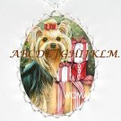 YORKSHIRE TERRIER DOG CHRISTMAS GIFT CAMEO NECKLACE