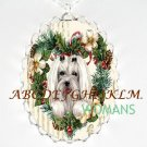 MALTESE DOG CHRISTMAS HEART CAMEO PORCELAIN NECKLACE