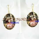 VICTORIAN COURTING COUPLE CAMEO PORCELAIN EARRINGS