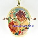 GONE WITH THE WIND PORCELAIN CAMEO LOCKET NECKLACE-24