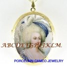 QUEEN MARIE ANTOINETTE PORCELAIN CAMEO LOCKET NECKLACE-26