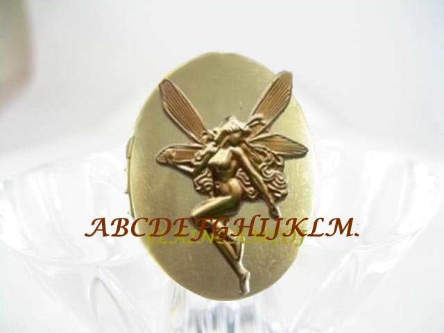ART DECO NOUVEAU DRAGONFLY FAIRY ANTIQUE VINTAGE LOCKET RING 5-9