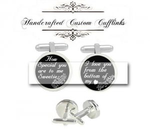 special love you my heart men Cufflinks groom groomsmen Wedding Anniversary father husband birthday