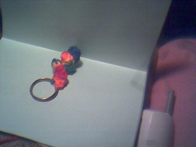 Curly keychain