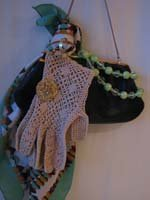 Black Purse, Green Scarf Collection