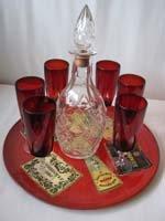 cranberry glasses