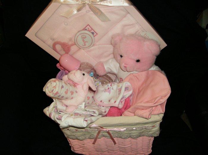 large girl baby basket